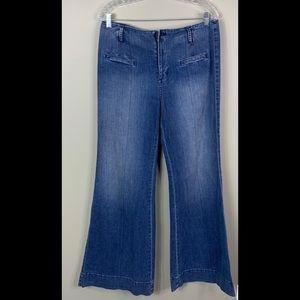Mossimo Wide Leg Jeans Size 12 Darkwash